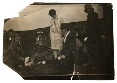Enhancements to a damaged photo from the 1920s